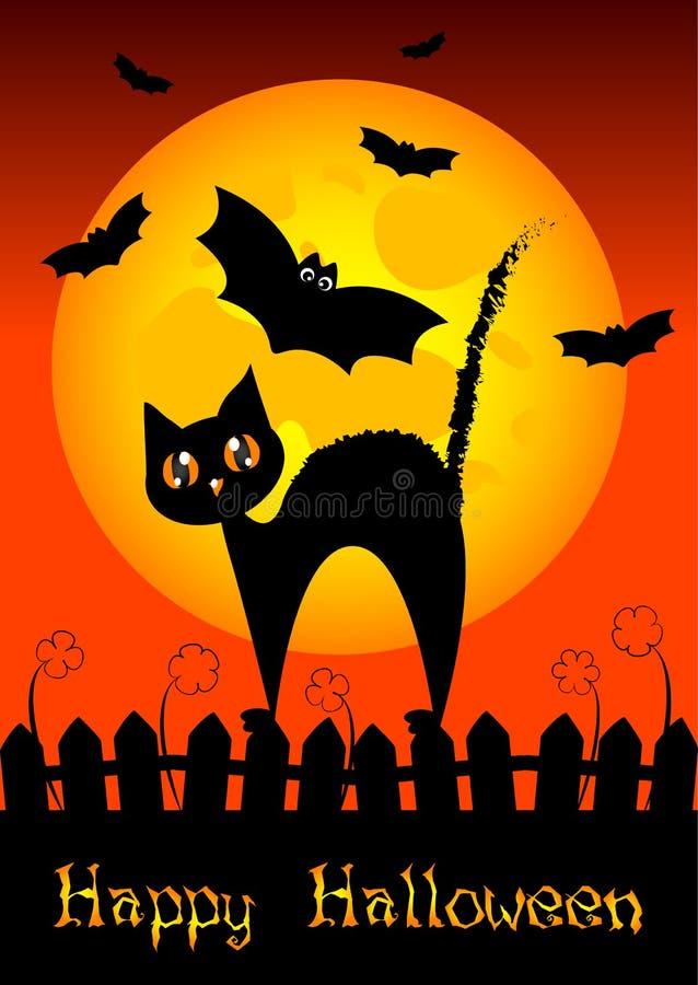Wakacyjna ilustracja na temacie Halloween Życzenia dla Szczęśliwego Halloween sztuczka przysmaki ilustracja wektor