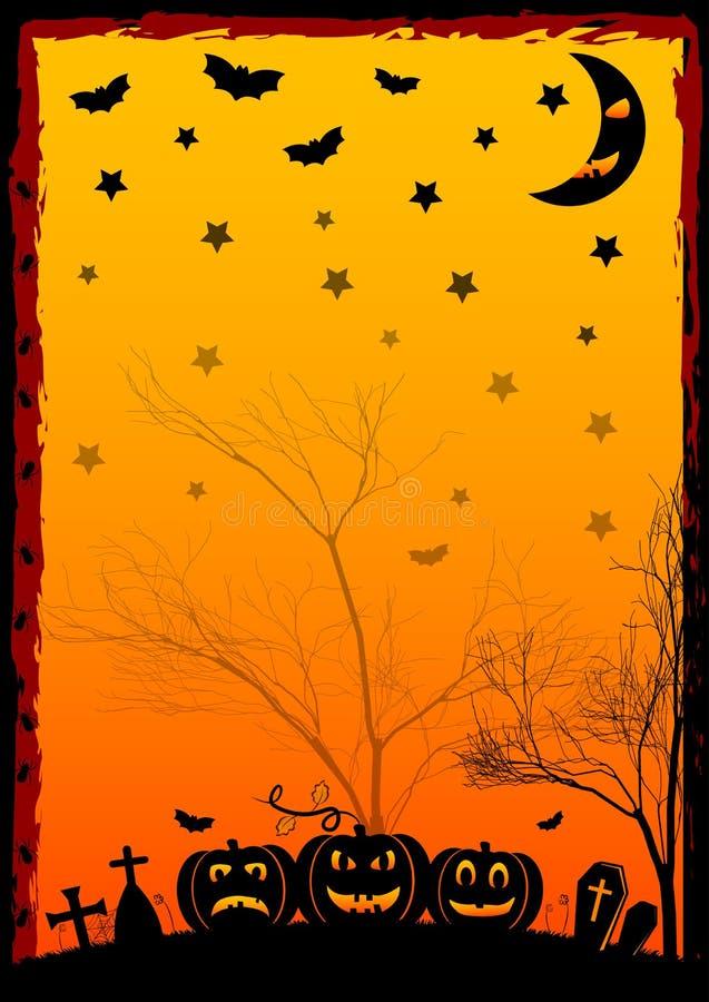 Wakacyjna ilustracja na temacie Halloween Życzenia dla Szczęśliwego Halloween sztuczka przysmaki royalty ilustracja