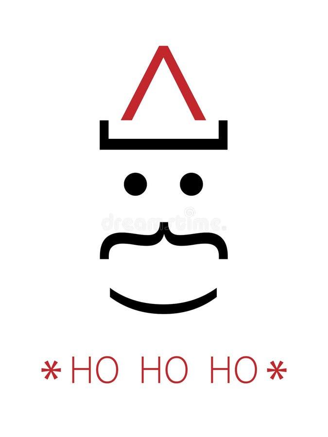 Wakacyjna korporacyjna karta dla bożych narodzeń Wektor karta z kreatywnie projektującym Święty Mikołaj Ho Ho Ho Bożenarodzeniowa ilustracji