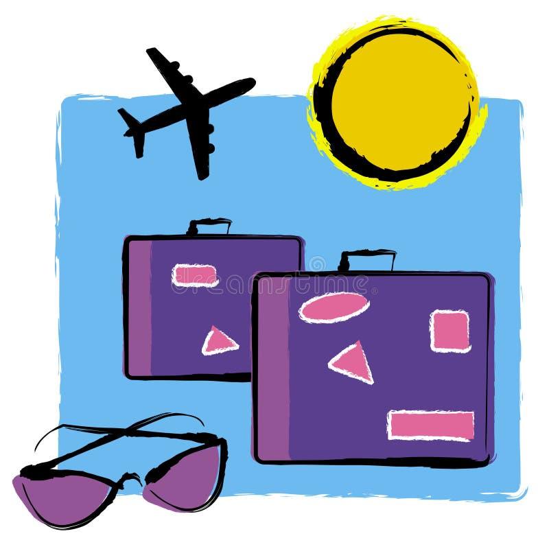 wakacyjna podróż. ilustracja wektor
