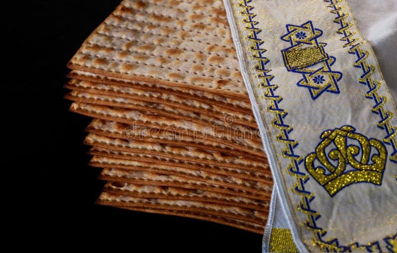 wakacyjnego macy świętowania matzoh passover chleba żydowski torah zdjęcie royalty free
