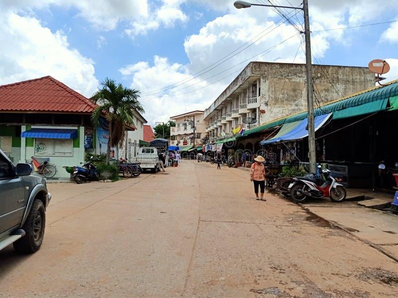 wakacyjnego miejscowego rynku Thailand esan ludzie obrazy royalty free