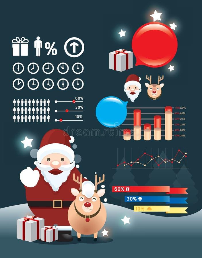 Wakacyjni boże narodzenia infographic   ilustracja wektor