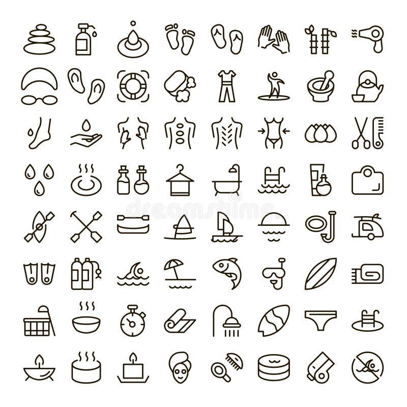 Wakacyjny ikona set ilustracji