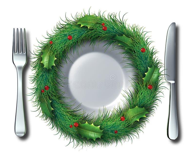 Wakacyjny jedzenie ilustracji