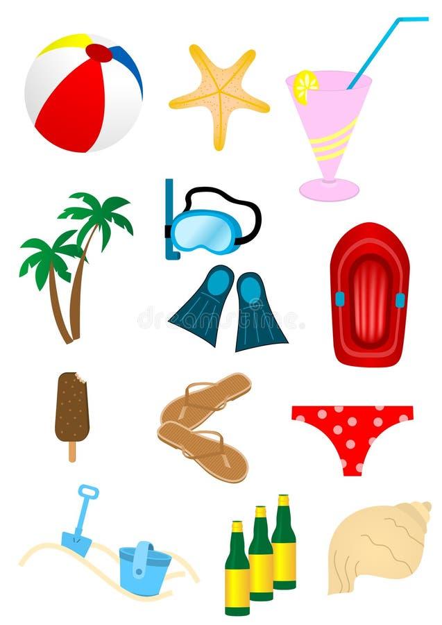 wakacyjny lato royalty ilustracja