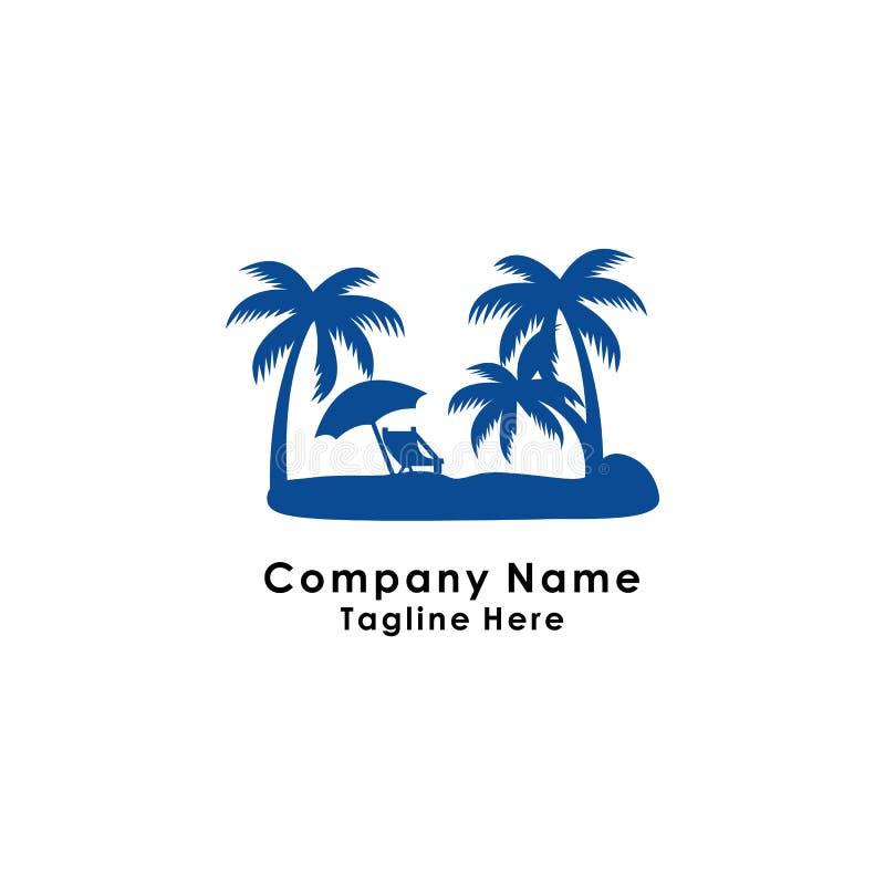 wakacyjny logo szablonu projekta wektor, morze, wakacje royalty ilustracja