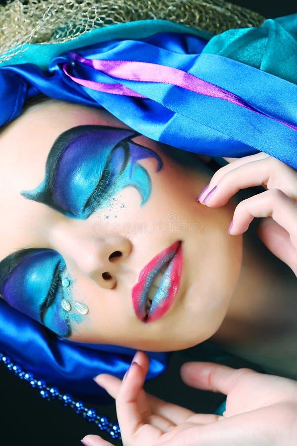 Wakacyjny makijaż fotografia stock