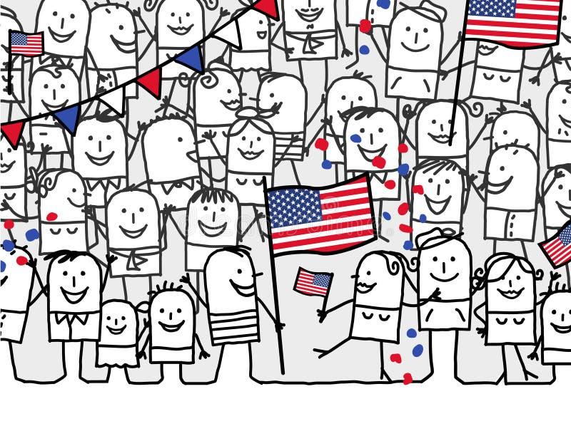 wakacyjny obywatel usa ilustracji