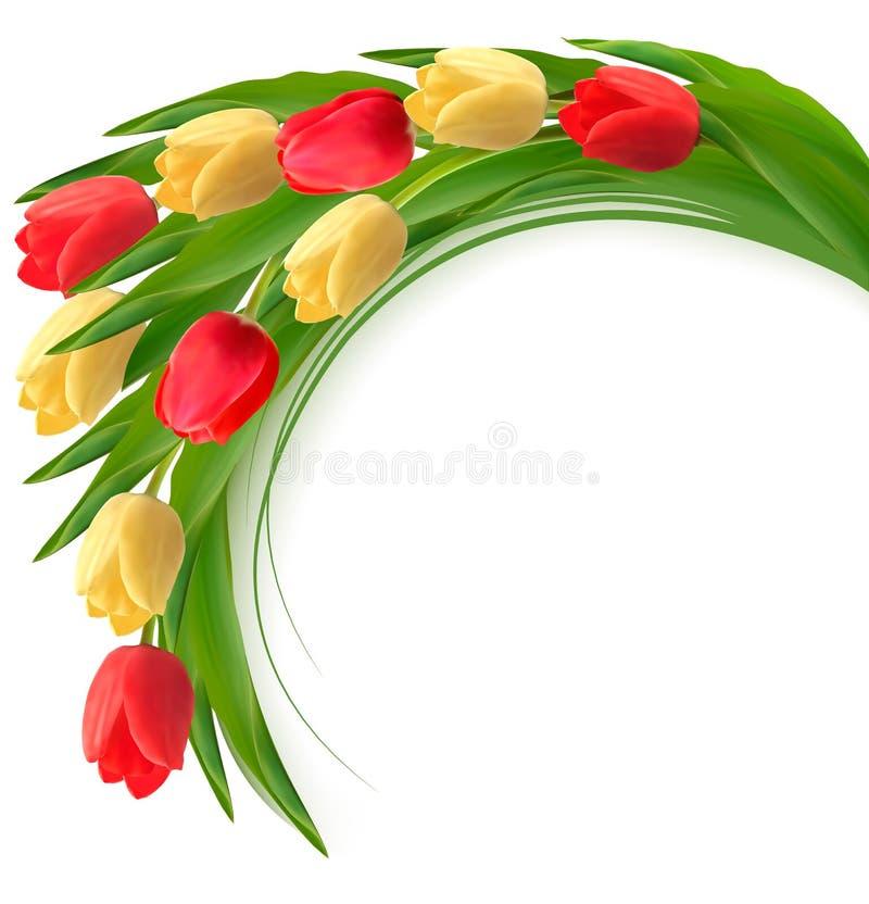 Wakacyjny tło z bukietem kolorowi kwiaty royalty ilustracja