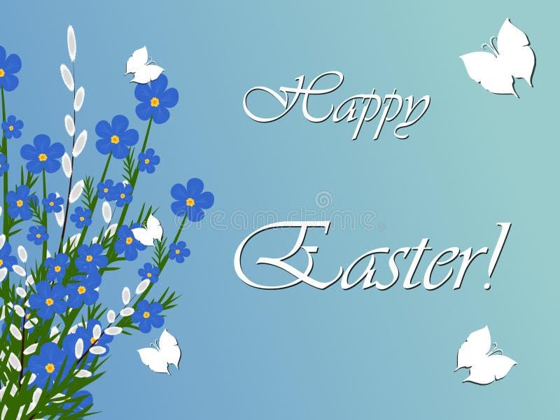 Wakacyjny Wielkanocny wierzbowy bukiet zdjęcie stock
