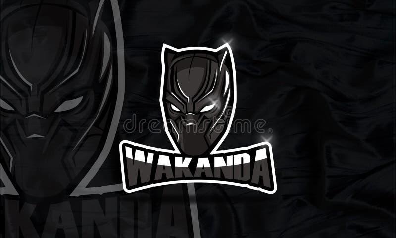 Wakanda商标Esport比赛和youtube 库存照片