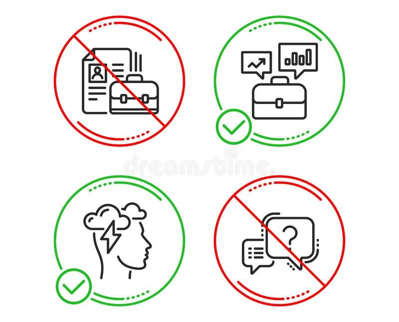 Wakat, Mindfulness stres i biznesu portfolio ikony ustawia?, oceny pytania znak wektor ilustracja wektor