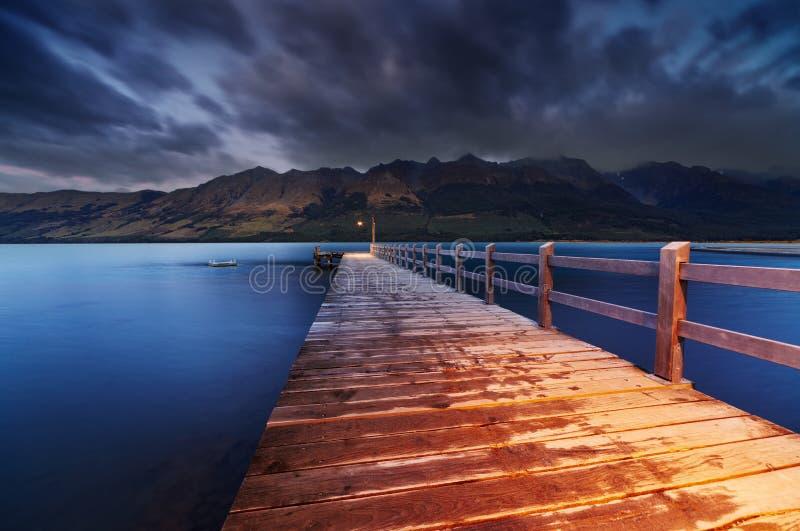 Wakatipu sjö, Nya Zeeland arkivbilder