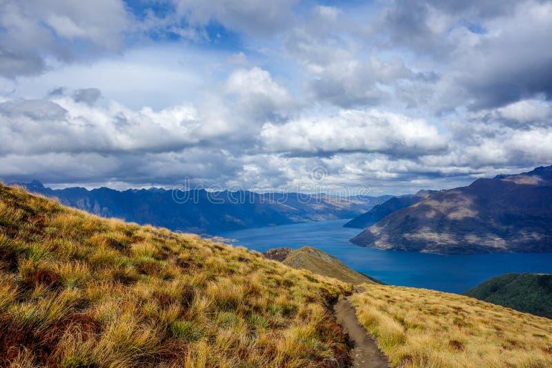 Wakatipumeer - Queenstown - Nieuw Zeeland stock foto