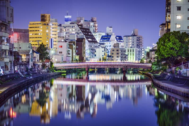 Wakayama, arquitetura da cidade de Japão fotografia de stock
