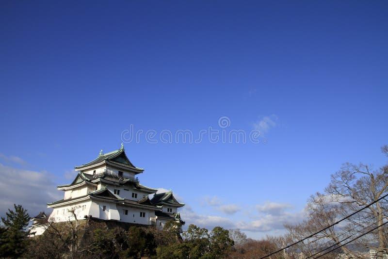 Wakayama castle in Japan royalty free stock photo
