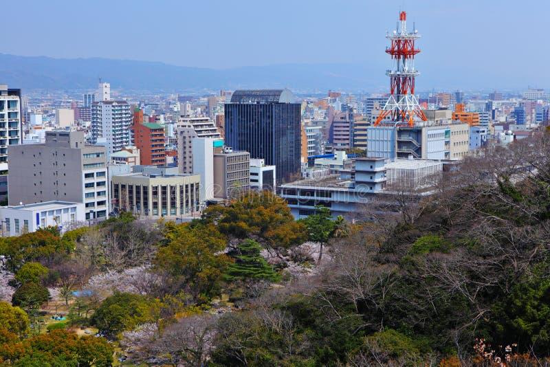 Wakayama cityscape stock image