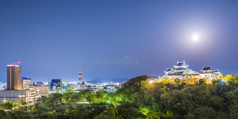 Wakayama miasto, Japonia zdjęcia royalty free