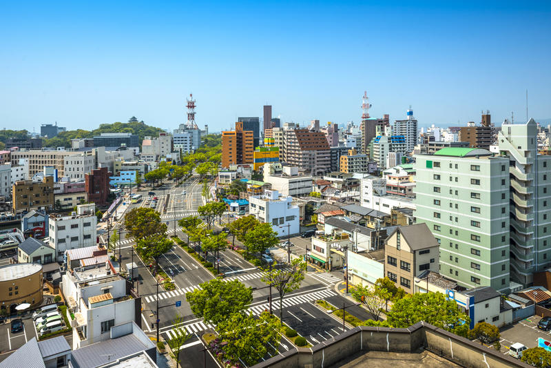 Wakayama stad, Japan royaltyfri foto