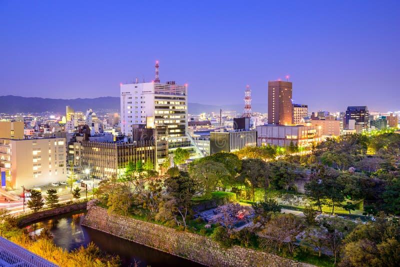 Wakayama stad, Japan royaltyfri bild