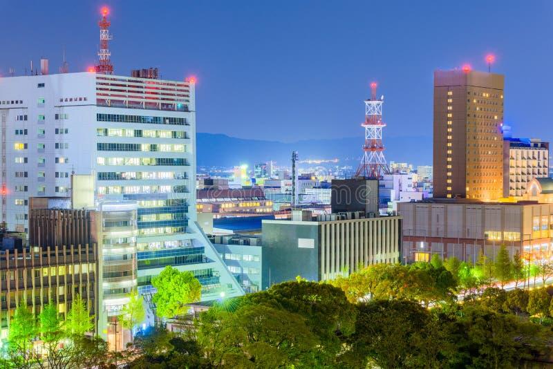 Wakayama stad, Japan Cityscape royaltyfria foton