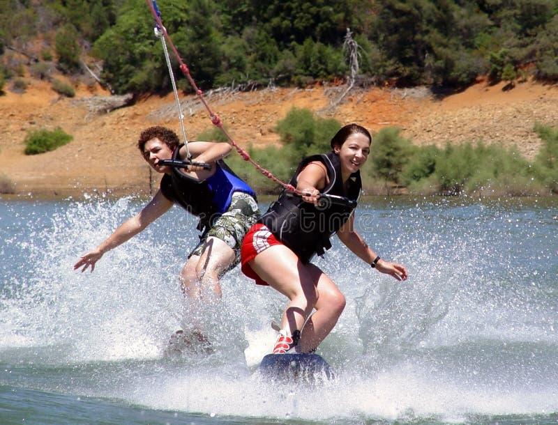 Download Wake boarders stock image. Image of splash, lifejacket, lake - 46873