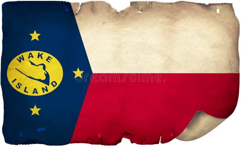 Wake Island Flag auf altem Papier lizenzfreies stockfoto
