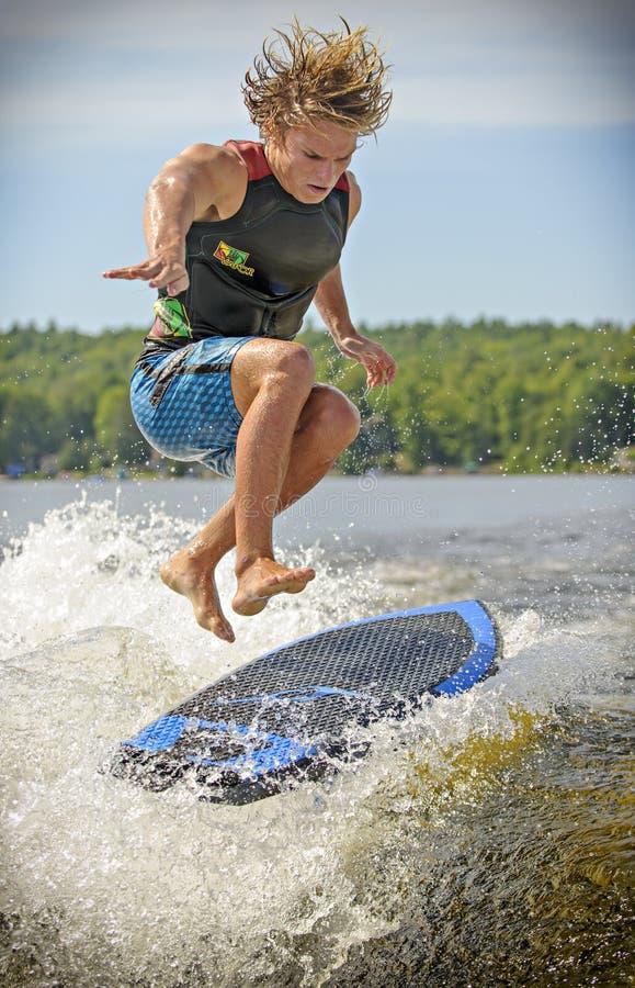 Wake Surfing royalty free stock photos