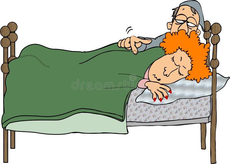 Download Wake up stock illustration. Image of husband, headboard - 114399