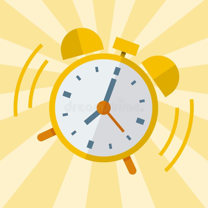 wake up alarm clock vector flat design stock vector illustration rh dreamstime com alarm clock vector free alarm clock factory