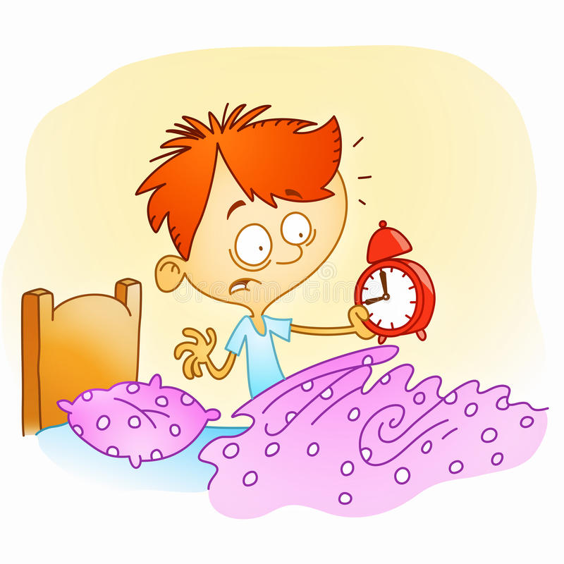 Wake up late vector illustration