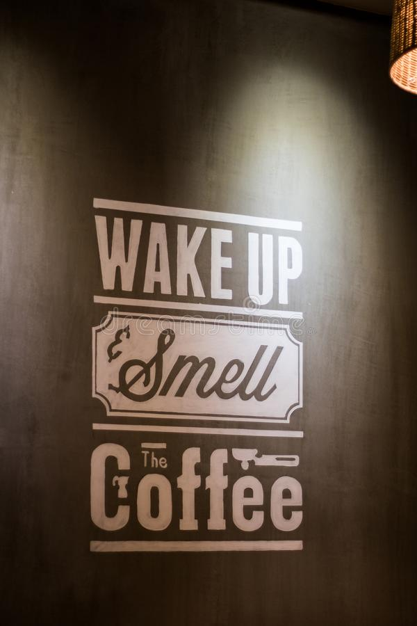 Wake Up Smell the Coffee Wall Decoratio royalty free stock photos