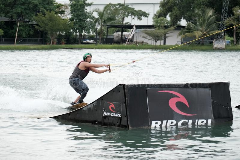 Wakeboard action sports. stock image