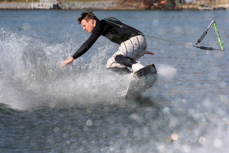 Wakeboard Fall lizenzfreie stockfotos