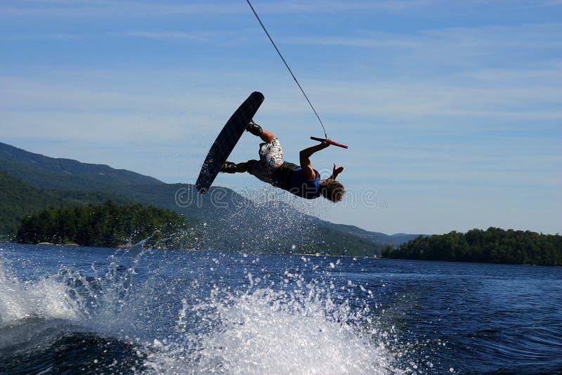wakeboard flip стоковые фото