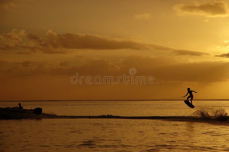 Wakeboard Sunset II royalty free stock photos