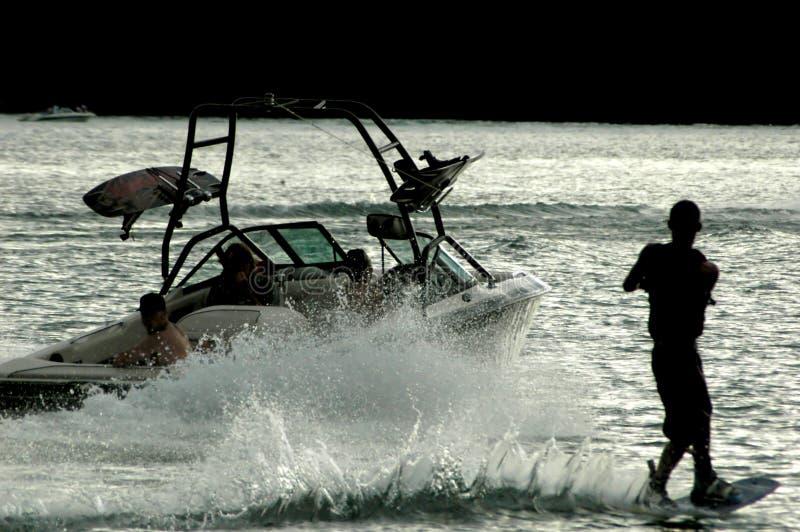 wakeboard sylwetki zdjęcia royalty free