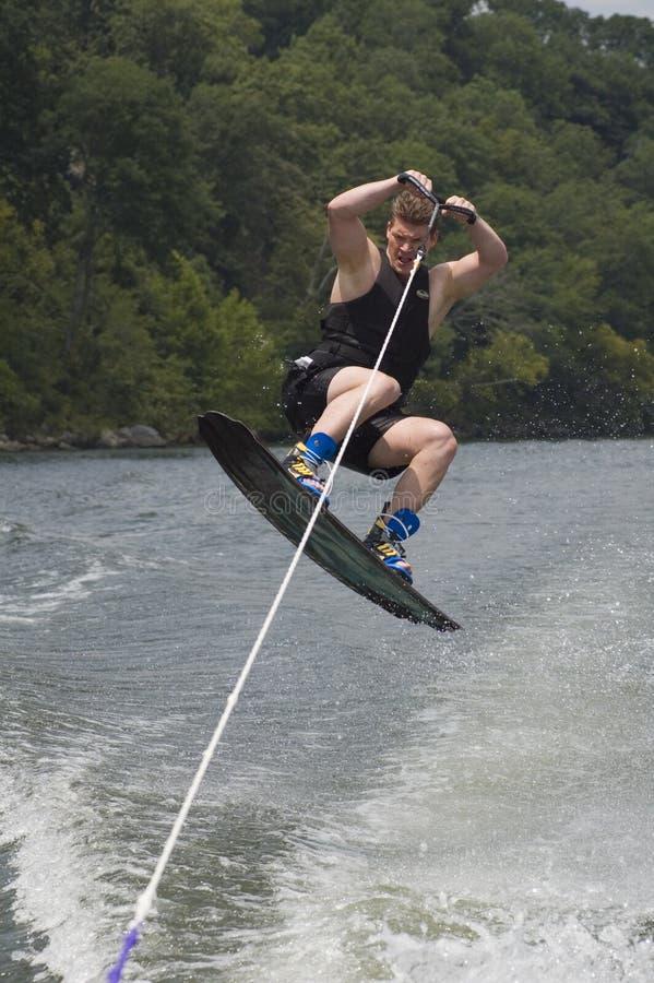 wakeboarder royaltyfria foton
