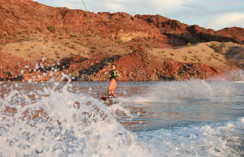 Wakeboarder photos libres de droits