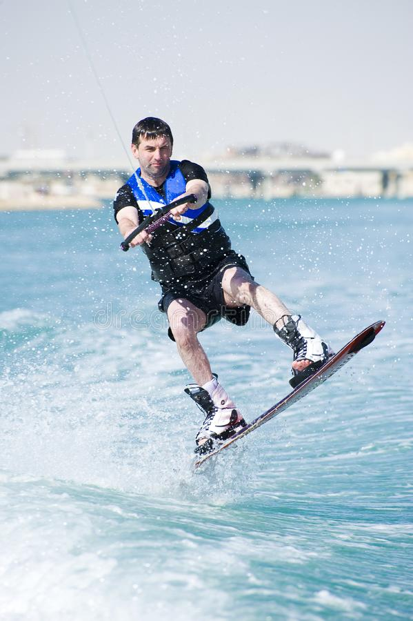 Wakeboarder in actie