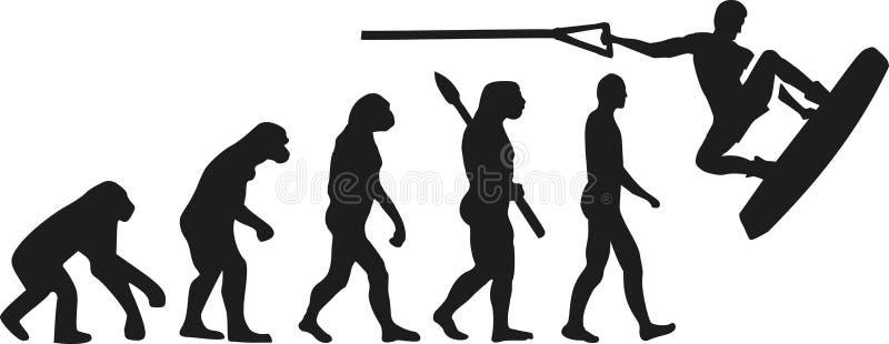 Wakeboarder evolution stock illustration