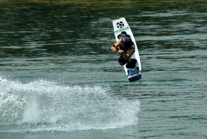 Wakeboarder na ação foto de stock royalty free
