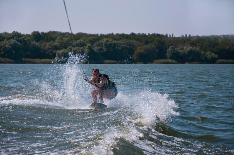 Wakeboarder royalty free stock photos