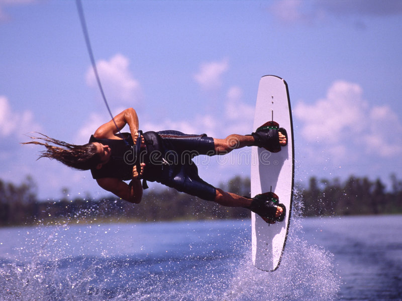 Wakeboarding 1 royalty free stock photo