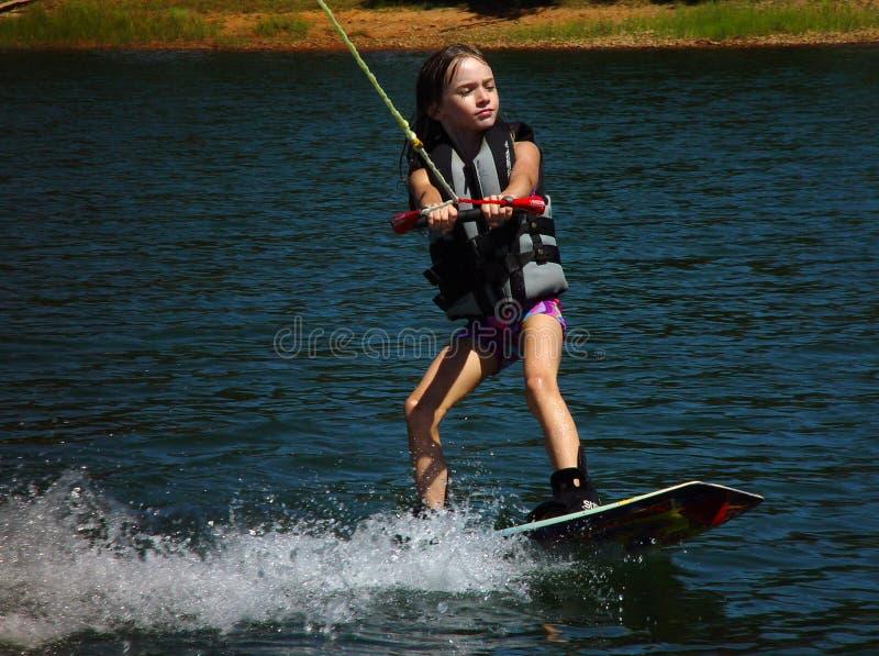 Wakeboarding royalty-vrije stock afbeeldingen