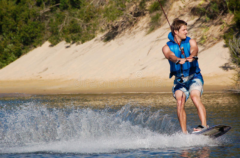 Wakeboarding images stock