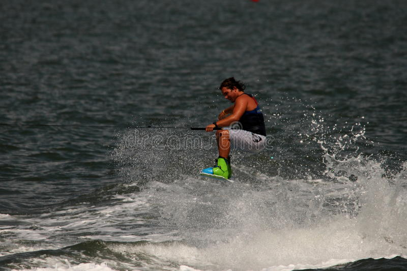 Download Wakeboarding demonstration editorial stock photo. Image of jump - 26659328