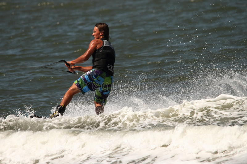 Download Wakeboarding demonstration editorial stock image. Image of activity - 26659514