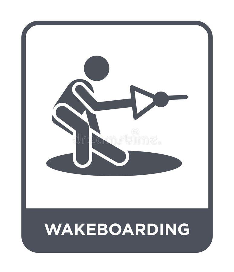 wakeboarding Ikone in der modischen Entwurfsart wakeboarding Ikone lokalisiert auf weißem Hintergrund wakeboarding Vektorikone ei vektor abbildung